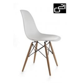 G21 Timber White 51738 Designová židle