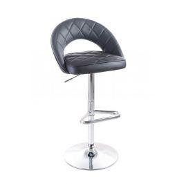 G21 Victea 51553 Barová židle black, koženková, prošívaná