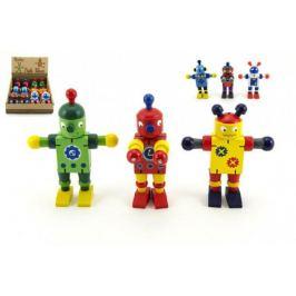 Robot dřevěný 12 cm