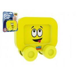 Moje první autíčko pěna Smajlík žlutý 8x8cm na kartě 0+