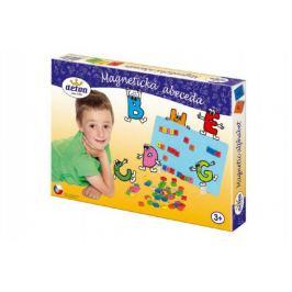 Magnetická abeceda dřevo 75ks v krabici 33x23x3,5cm
