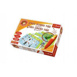 Malý objevitel kolem nás + kouzelná tužka edukační společenská hra v krabici 33x23x6cm