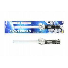 Meč svítící plast 42cm na baterie se světlem na kartě