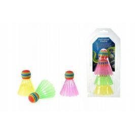 Míčky/Košíčky na badminton barevné plast 3ks na kartě
