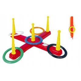 Házecí hra kříž s kruhy plast 5ks v síťce