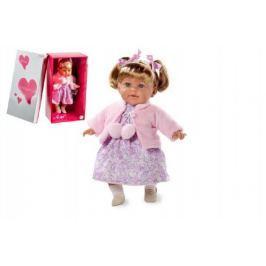 Panenka Arias vonící 42cm růžové šaty smějící se měkké tělo na baterie v krabici