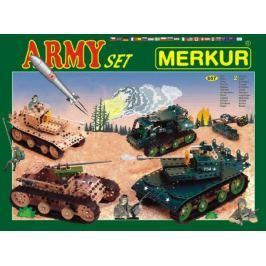 MERKUR Army Set Stavebnice 62 vrstvy v krabici 36x27x5,5cm