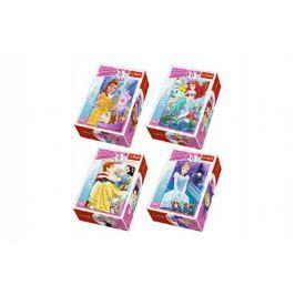Minipuzzle Princess/Disney 54dílků - 4 druhy