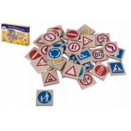 Pexeso dopravní značky dřevo 36ks v krabici