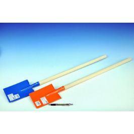 Rýč s násadou rovný kov/dřevo 80cm asst 3 barvy nářadí