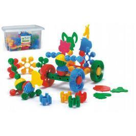 Kostky stavebnice Funny Block plast 180ks Wader v plastovém boxu 40x23x35cm