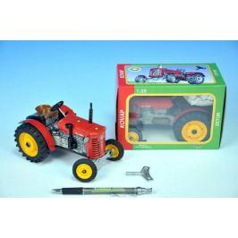 Kovap Zetor Traktor 2červený na klíček kov 11:2v krabičce