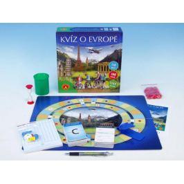 Kvíz o Evropě společenská hra v krabici 25x25x7cm