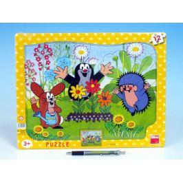Krtek zahradník Puzzle deskové tvary 36x28cm 12 dílků