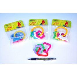 Kousátko tvary plast 8cm - barvy