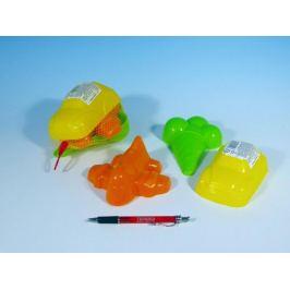 Teddies Formičky Bábovky plast 3ks v síťce 15x10cm
