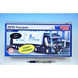 Stavebnice Monti 59 DFDS Transport Actros L-MB 1:48 v krabici 31,5x16,5x7,5cm