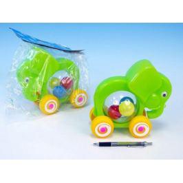 Slon s míčky tahací plast 20x18x9,v sáčku 12m+