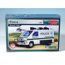 Stavebnice Monti 27 Policie Renault Trafic 1:35 v krabici 22x15x6cm