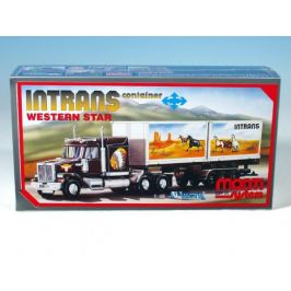 Stavebnice Monti 25 Intrans Container Western star 1:48 v krabici 31,5x16,5x7,5cm
