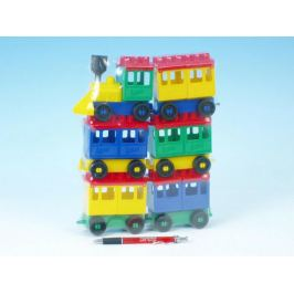 Stavebnice LORI 8 vlak + 5 vagónků plast v sáčku 20x26x5cm Stavebnice Lori