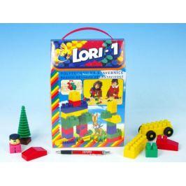 LORI 1 Stavebnice plast v krabici 19x28x10cm