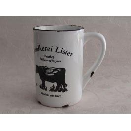 Porcelánový retro hrneček - Milk