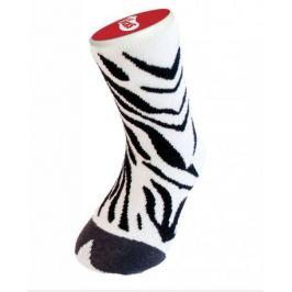 Dětské bláznivé ponožky - zebra