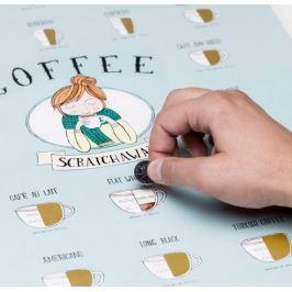 Stírací plakát kávy - Coffee Scratchaway