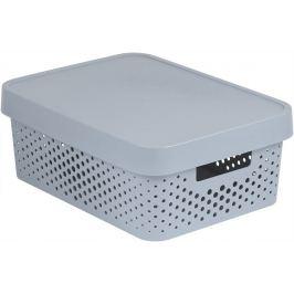 CURVER INFINITY DOTS Úložný box 11L - šedý