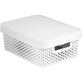CURVER INFINITY DOTS Úložný box 11L - bílý