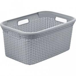 CURVER RATTAN STYLE 41081 Koš na čisté prádlo 45L  - šedý