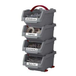 Keter CLICK BINS 41075 Sada plastových boxů - S - 4 organizéry