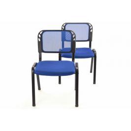 Garthen 38256 Sada stohovatelné kongresové židle 2 kusy - modrá