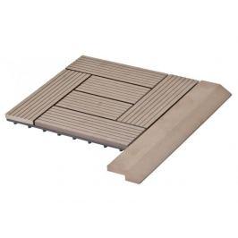 G21 27711 Přechodová lišta pro WPC dlaždice indický teak, 38,5x7,5 cm rohová
