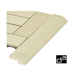 G21 Cumaru 27710 Přechodová lišta  pro WPC dlaždice 38,5x7,5 cm rohová