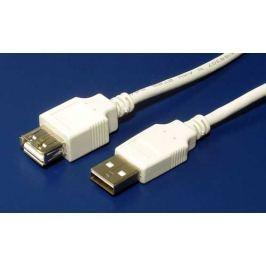 Value Kabel USB 2.0 A-A 2m prodlužovací, bílý/šedý
