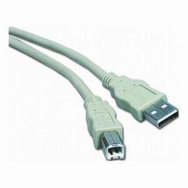 PremiumCord Kabel USB 2.0 A-B 2m, bílý/šedý