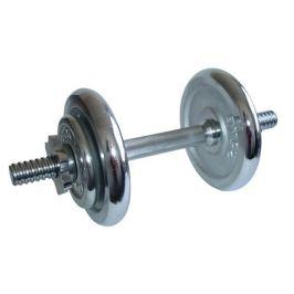 CorbySport 4563 Činka nakládací, jednoruční - 8,5 kg - chromované kotouče