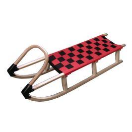CorbySport 28443 Sáně 125cm dřevěné - červené