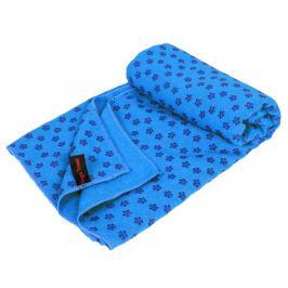 Protiskluzový ručník na jógu - 183 x 61 cm, modrý