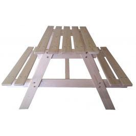 Dětská dřevěná sestava na piknik - 90 x 70 x 50 cm