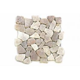 Divero Garth 9646 Mozaika říční kámen - krémová - 30x30x1,5 cm
