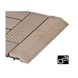 G21 27714 Přechodová lišta pro WPC dlaždice indický teak, 30x7,5 cm rovná