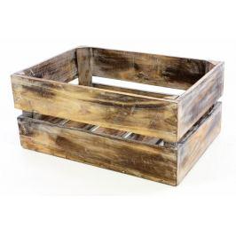 Divero VINTAGE 51361 Dřevěná bedýnka hnědá - 51 x 36 x 23 cm