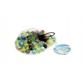 Kuličky cvrnkací skleněné barevné cca 90ks 500gr