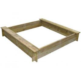 Pískoviště dřevěné čtyřhranné se dvěma sedátky