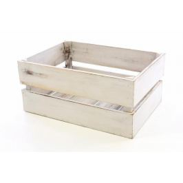 DIVERO VINTAGE 51364 Dřevěná bedýnka bílá - 51 x 36 x 23 cm