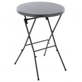 Skládací vysoký stůl - šedý
