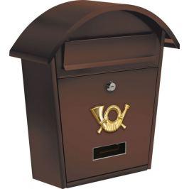 Vorel Poštovní schránka se stříškou oblou - hnědá